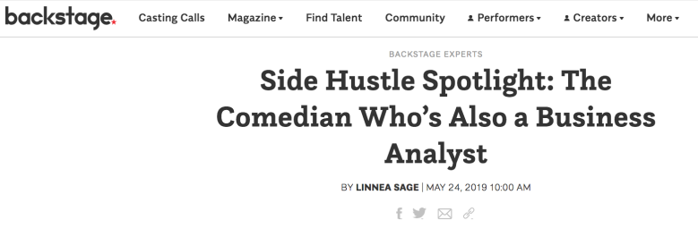 Backstage headline